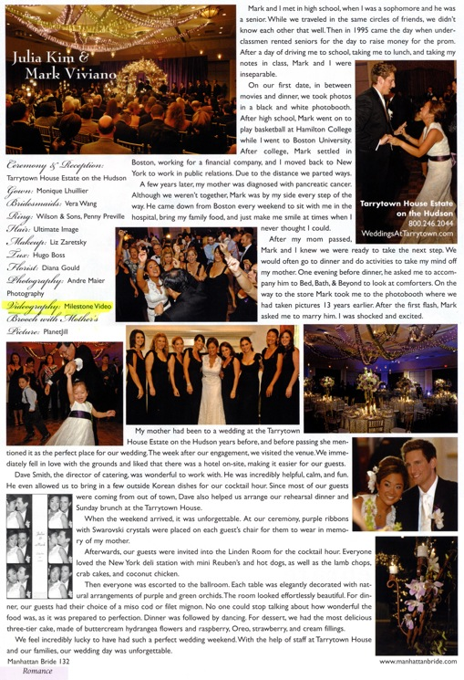 Manhattan Bride Magazine - Julia & Mark